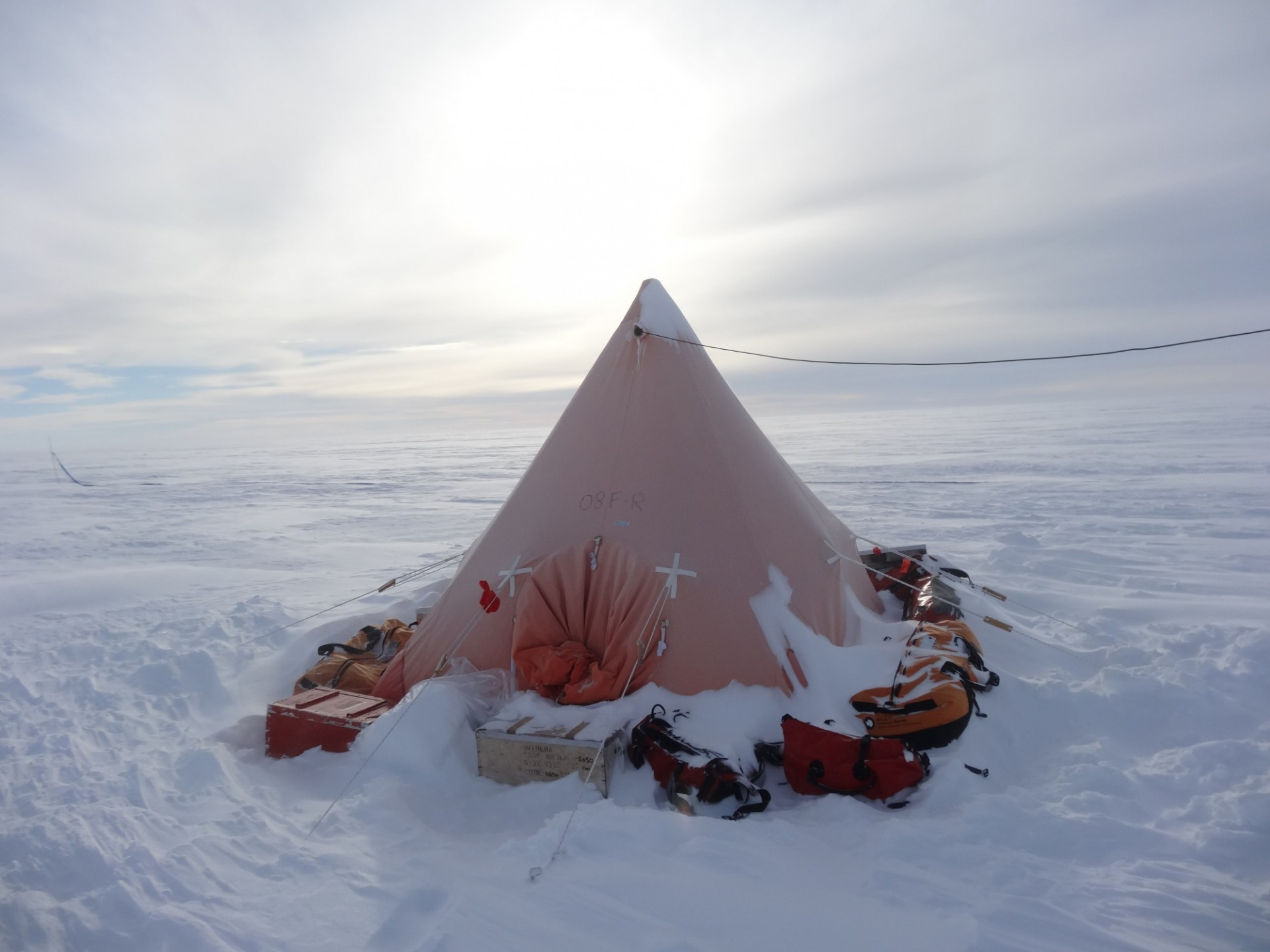 Scott Tent in Weddell Sea Sector of West Antarctica by Jonathan Kingslake